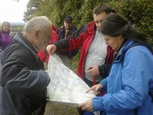 "Wanderführerausbildung ""Karte & Kompass"", Foto: Walter Völmle"