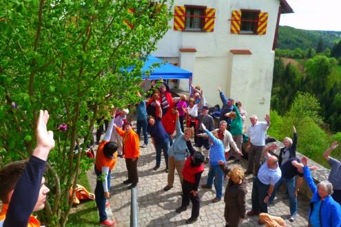 Aktionstag Gesundheitswandern Burg Derneck - Foto: Karin Kunz