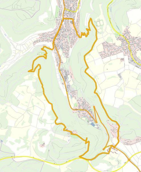 Aussichtsreich um Lichtenstein Kartengrundlage: OpenStreetMap.org
